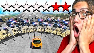 I TRIED TO ESCAPE A **7** STAR WANTED LEVEL in GTA 5!