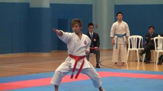 2012 Hong Kong Karate Tournament Individual - Gojushiho Sho by Tsz Man (Shotokan)