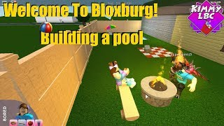 Roblox | Welcome To Bloxburg *Building a pool*
