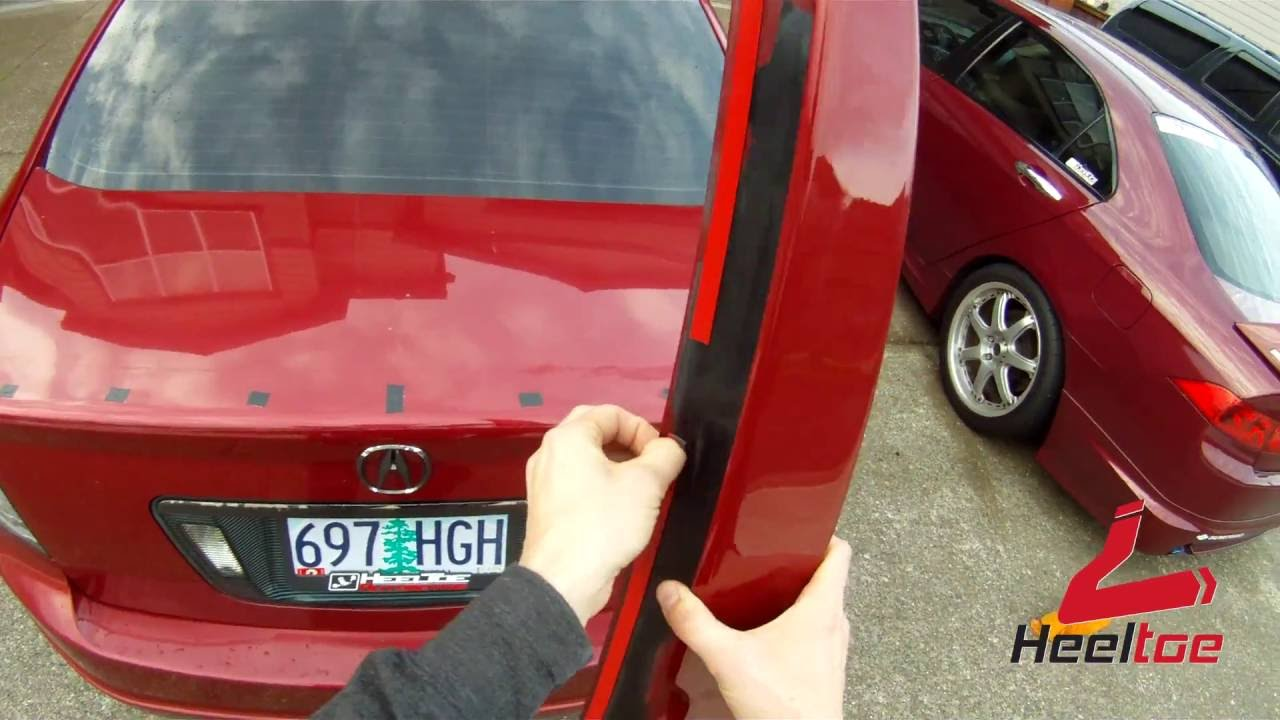 ATLP G TL CSLStyle Spoiler Install Video How To Install Parts - Acura tl spoiler