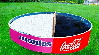Experiment Coca cola VS Mentos in the Pool AND Coca Cola vs Mentos Underground. Super Reaction!
