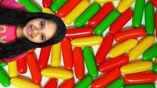 شفا حلويات ملونة Mukbang candy shfa