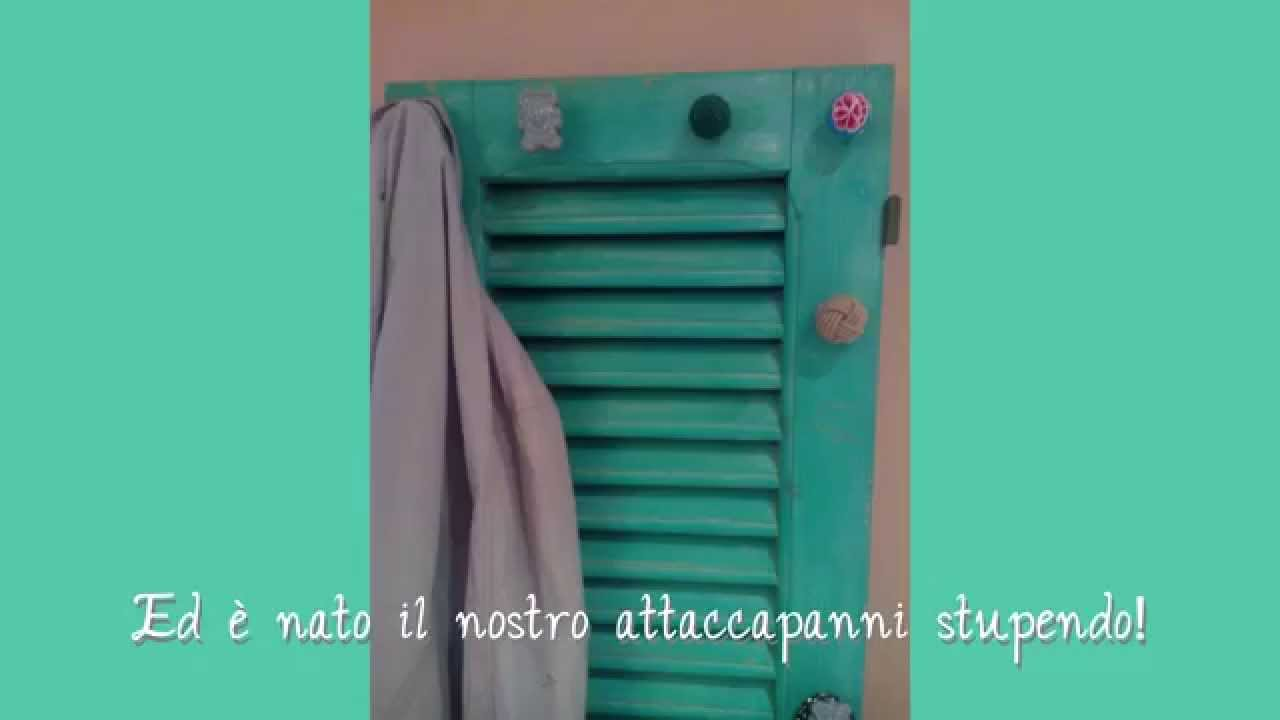 Tutorial creare un attaccapanni shabby chic con una persiana youtube