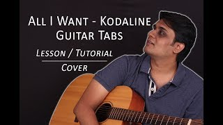 All I Want (Part 1) - Guitar Tabs (Lead) || Lesson / Tutorial + Cover