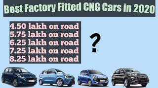 Factory Fitted CNG Cars List in 2020 With On Road price