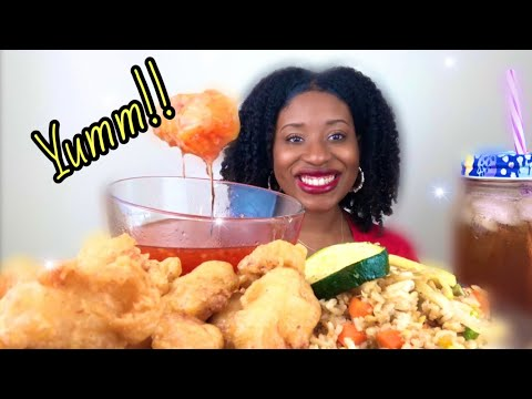 chinese-food-mukbang-challenge-sweet-and-sour-chicken-and-vegetable-fried-rice-#toshpointfroeats!!
