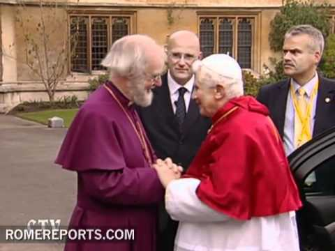 Pope meets Anglican leader Rowan Williams, Archbishop of Canterbury