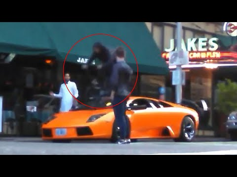 Lamborghini stunt pics gets BMX rider in...