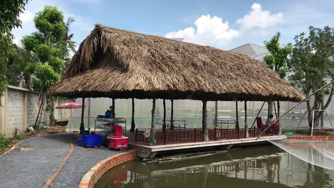 Kiến trúc Mái lá trong tổ hợp nhà hàng hồ câu cá – Kho Tư liệu Xây dựng