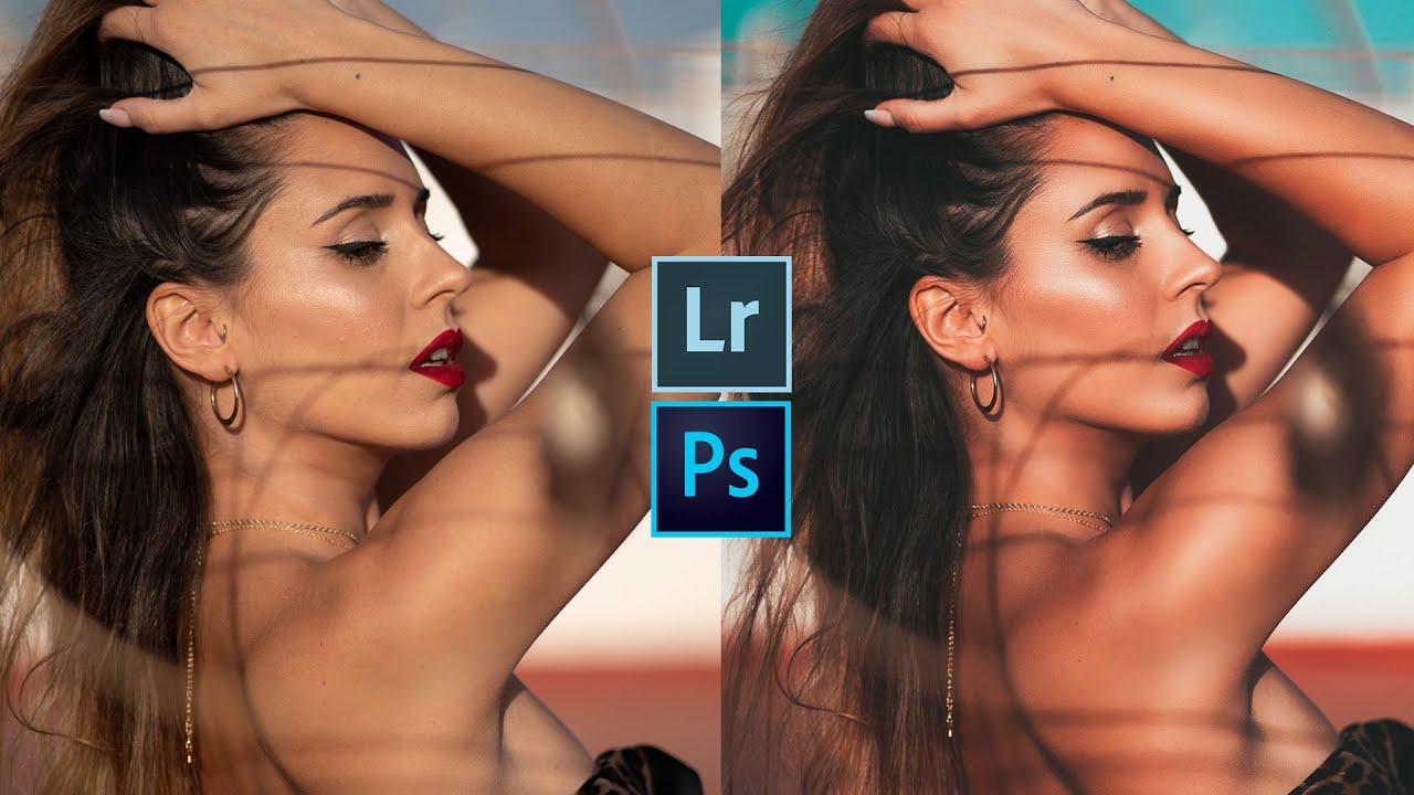 5 FORMAS de LIMPIAR la PIEL con LIGHTROOM y PHOTOSHOP en PC y MOBILE 📸📱  // NIVEL PRINCIPIANTE ✔️