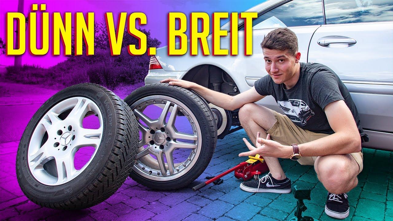 DÜNNE vs. BREITE Reifen - Der Verbrauchs- und Beschleunigungstest | RB Engineering