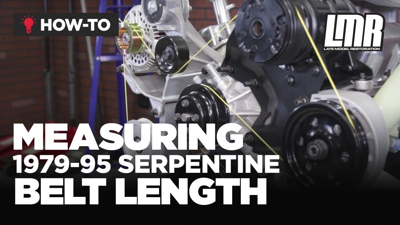 79 95 mustang how to measure serpentine belt length (5 0) youtube