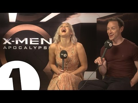 Jennifer Lawrence and James McAvoy chat to Greg James