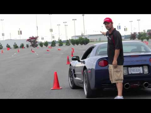 How To Slalom With Mike Junior Johnson Of Evolution Performance Driving School