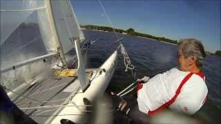 F18 Catamaran sailing, Hawk, (HD)