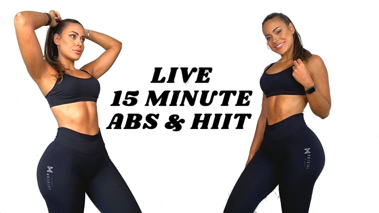 15 Min Ab & HIIT Workout - Live Workout
