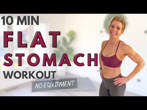 10 Min Toned Tummy Workout No Equipment