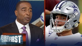 Nick and Cris on expectations for Dak Prescott's 3rd season with Cowboys | NFL | FIRST THINGS FIRST