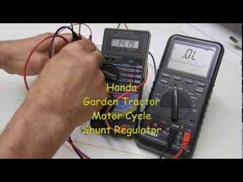 Garden Tractor, Motorcycle Voltage Regulator Testing - Honda SH547