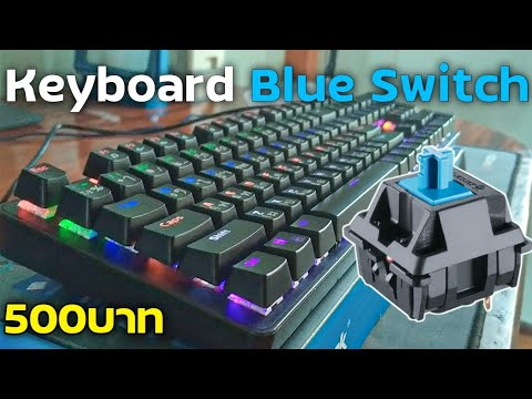 รีวิว Keyboard บลูสวิทช์ ราคาถูกที่สุดในโลก 500บาทเท่านั้น Razeak RKX16