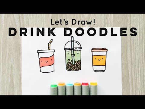 Let's Draw : Doodle Drinks! | Doodles By Sarah
