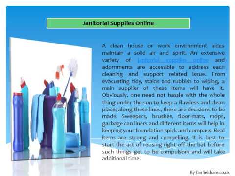 Janitorial Supplies From Janitorial Suppliers – The Best Cleaning Supplies