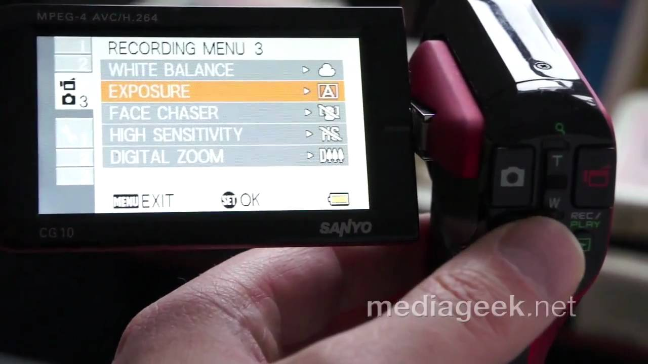 how to use manual controls with the sanyo xacti camcorders Xacti Dual Camera Sanyo Xacti E6