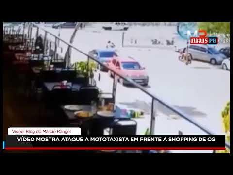 Vídeo mostra ataque a mototaxista em frente a shopping de Campina Grande