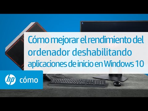 Cómo mejorar el rendimiento del ordenador deshabilitando aplicaciones de inicio en Windows 10 | HP