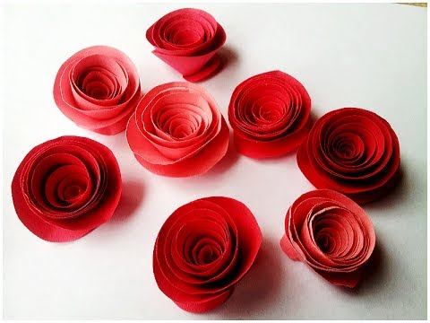 Papercraft How to make Rolled Paper Roses Quick & Easy Tutorial