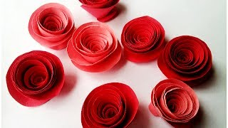 Repeat youtube video How to make Rolled Paper Roses Quick & Easy Tutorial