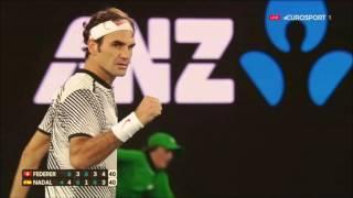 Roger Federer Vs Rafael Nadal Australian Open 2017 Final AMAZING POINT Federer HD 1080p