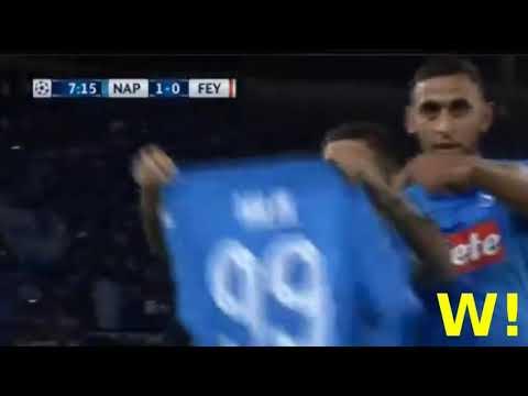 Insigne Goal - Napoli vs Feyenoord 1-0 - Champions League - 26/09/2017 HD
