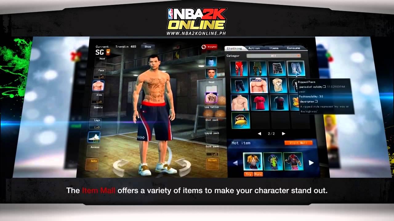 nba2k online_NBA2K Online - Player customization - YouTube