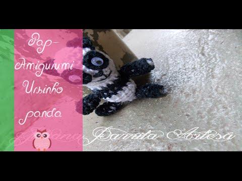 Panda amigurumi – Descrição do Passo a Passo – Bonek de Crochê | 360x480