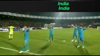 India vs New Zealand football match|Intercontinental cup 2018|Amazing crowd for Indian football team
