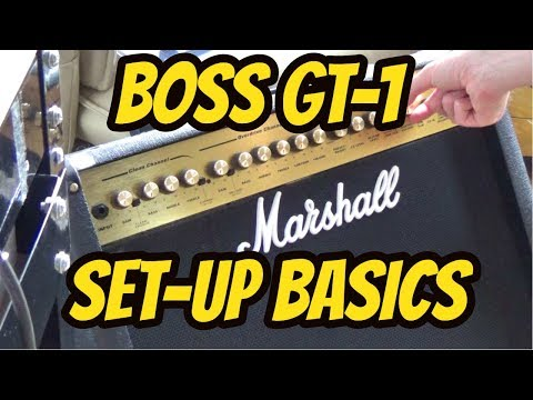 Boss GT 1│Multi Effects Processor│Tutorial - 3 Basic Set-up Connections.