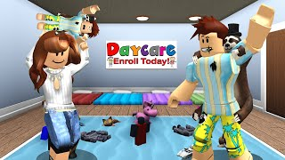 So I Brought Baby Poke To The Roblox Daycare..