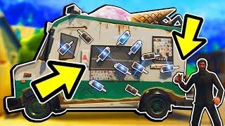 🔴 מה יקרה אחרי שנפוצץ את משאית הגלידה בפורטנייט?! (מפוצצים את מכונית הגלידה בפורטנייט!)