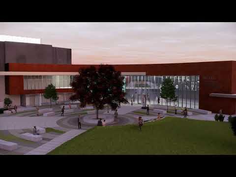 Woodland Community College, New Performing Arts Facility Fly Over Video 02 04 2020
