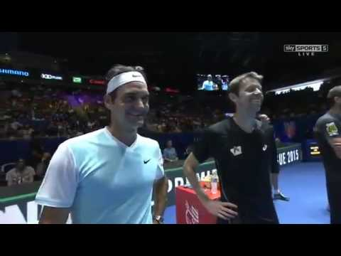 Roger Federer & Daniel Nestor Interview HD IPTL Singapore 2015