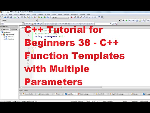 C tutorial for beginners 39 c function templates with c tutorial for beginners 39 c function templates with multiple parameters youtube pronofoot35fo Gallery