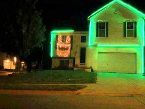 Halloween light show 2015 type o negative creepy green light youtube halloween light show 2015 type o negative creepy green light aloadofball Choice Image