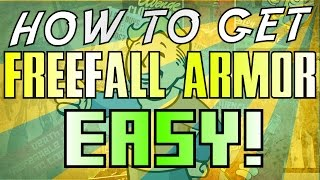 Fallout 4: EASIEST way to get Legendary Freefall Armor. No Jetpack Required!!!