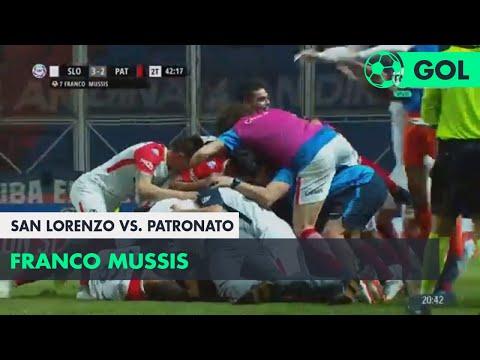 Franco Mussis (3-2) San Lorenzo vs Patronato | Fecha 6 - Superliga Argentina 2018/2019
