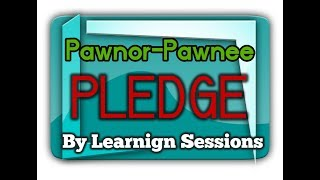 What is Pledge? Very Important Concept JAIIB in Hindi - Legal and regulatory aspects of banking