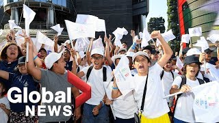 Italians took to the streets celebrate as milan-cortina was announced host city for 2026 winter olympics games, on june 24.for more info, pleas...