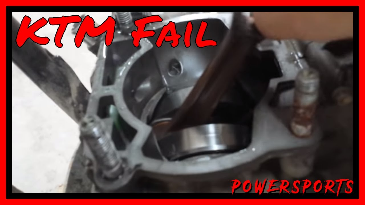 ktm crank bearing failure at top speed - fml - splitting the cases