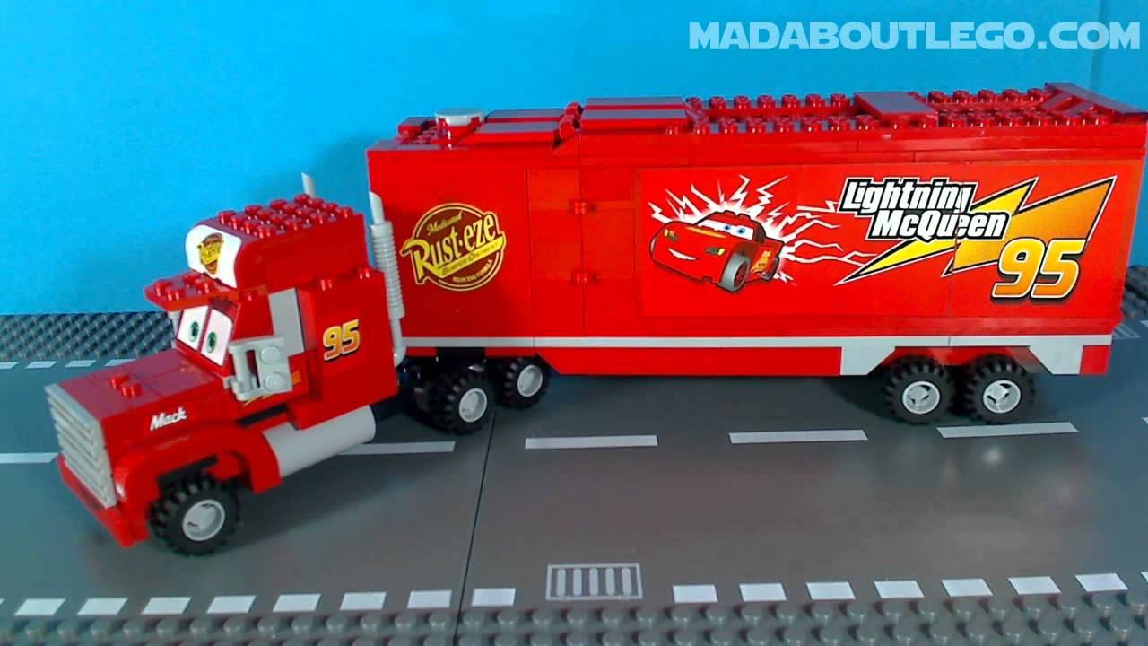 lego cars mack 39 s team truck youtube. Black Bedroom Furniture Sets. Home Design Ideas