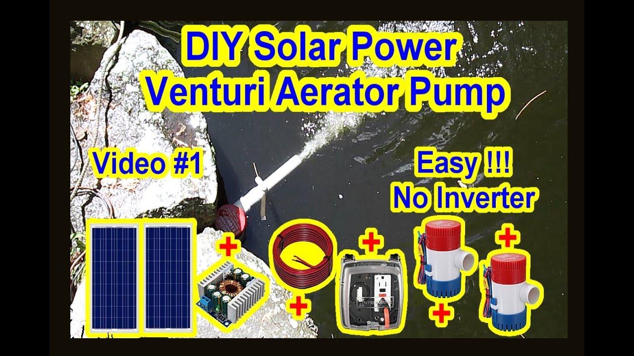 Diy solar power venturi aerator oxygen pump koi fish for Koi pond venturi